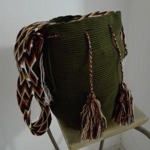 handbag wayu green military.